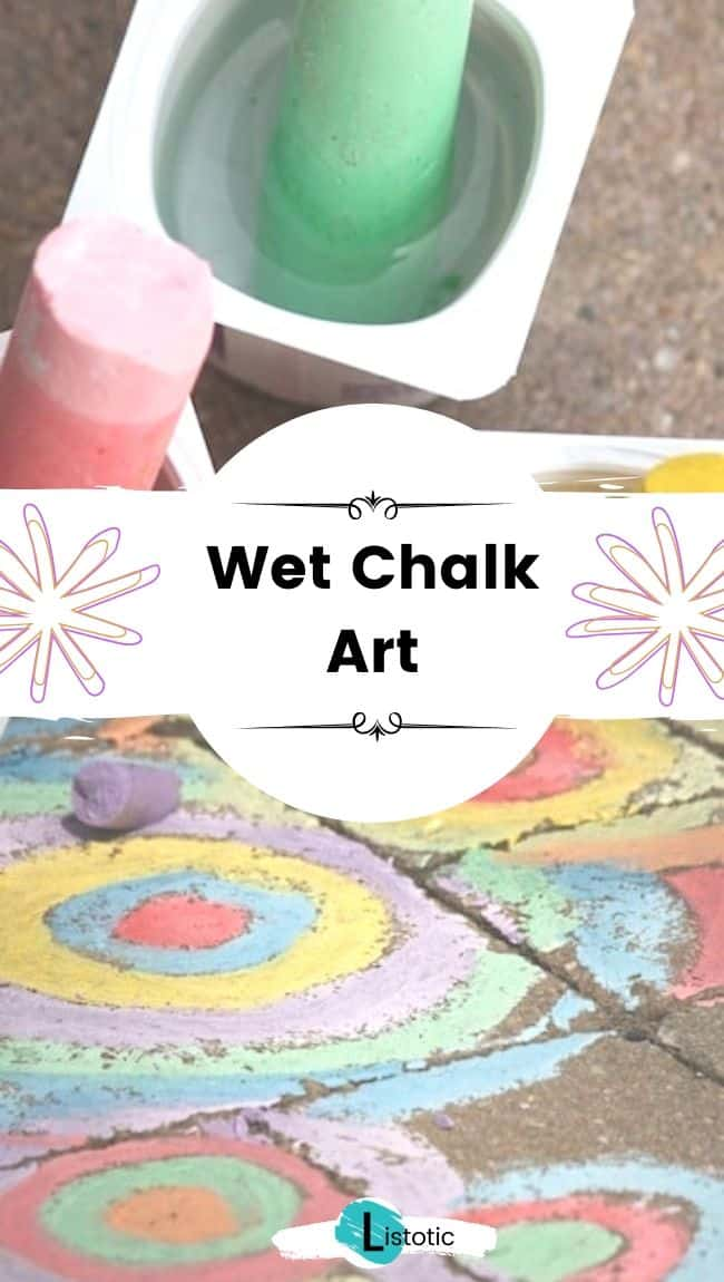 Wet chalk art.