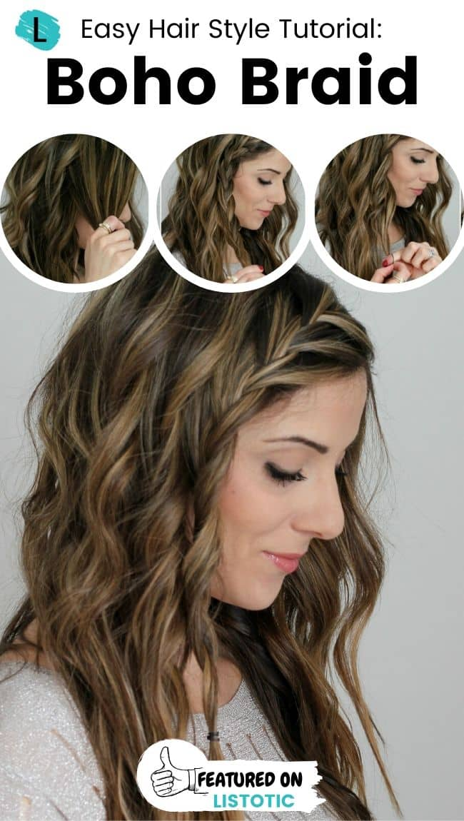Boho braid hairstyle.