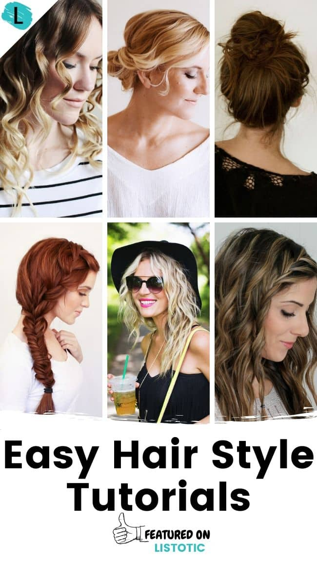 Easy hair style tutorials featured on Listotic.