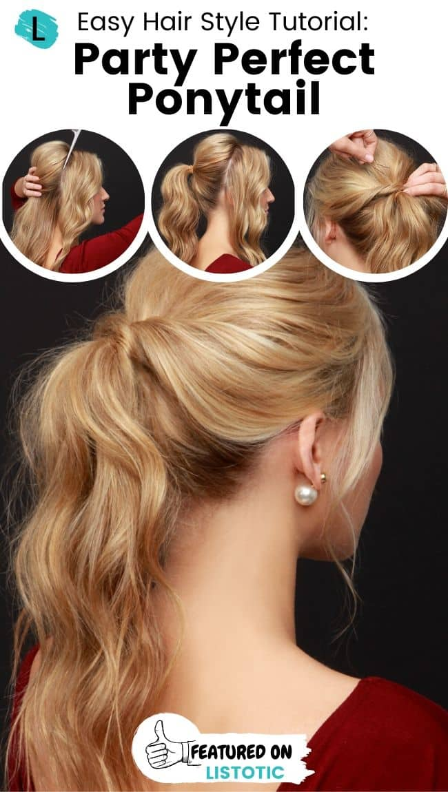 Party perfect ponytail hairstyle.