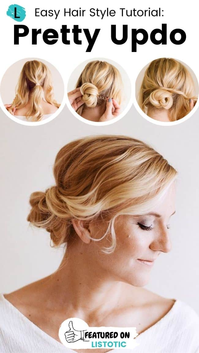 Pretty updo hairstyle.