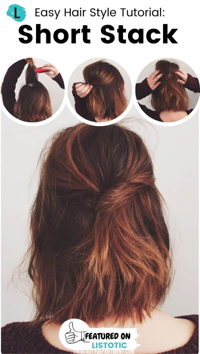 Short stack hairstyle.