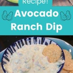 Easy recipe avocado ranch dip.