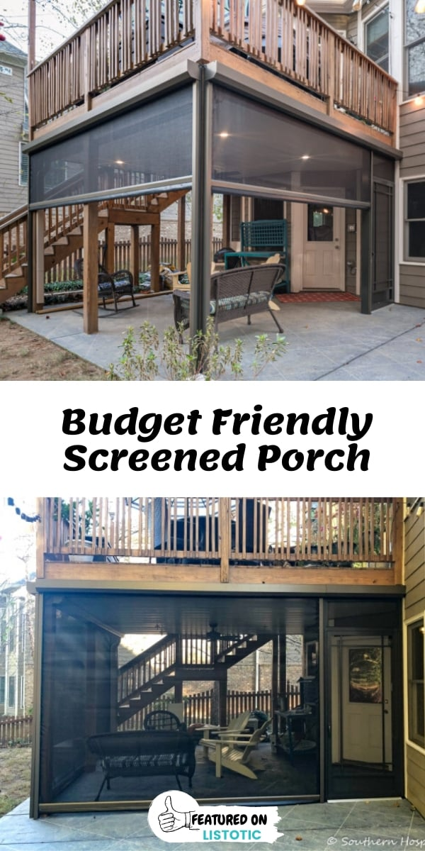 Budget Friendly Screened porch under deck with option to open and close