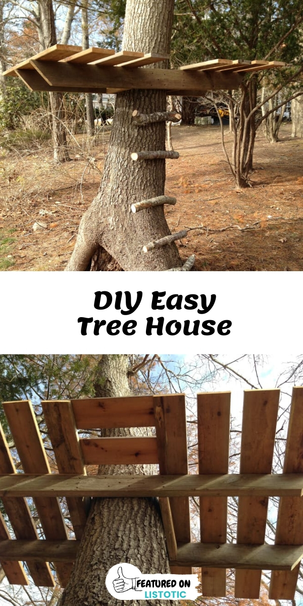 Easy open DIY Tree House