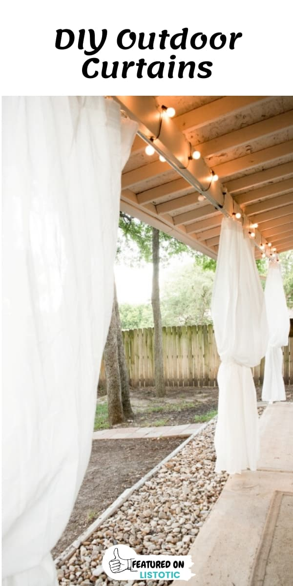 DIY Outdoor Curtain Privacy Panels from the wind and neighbors