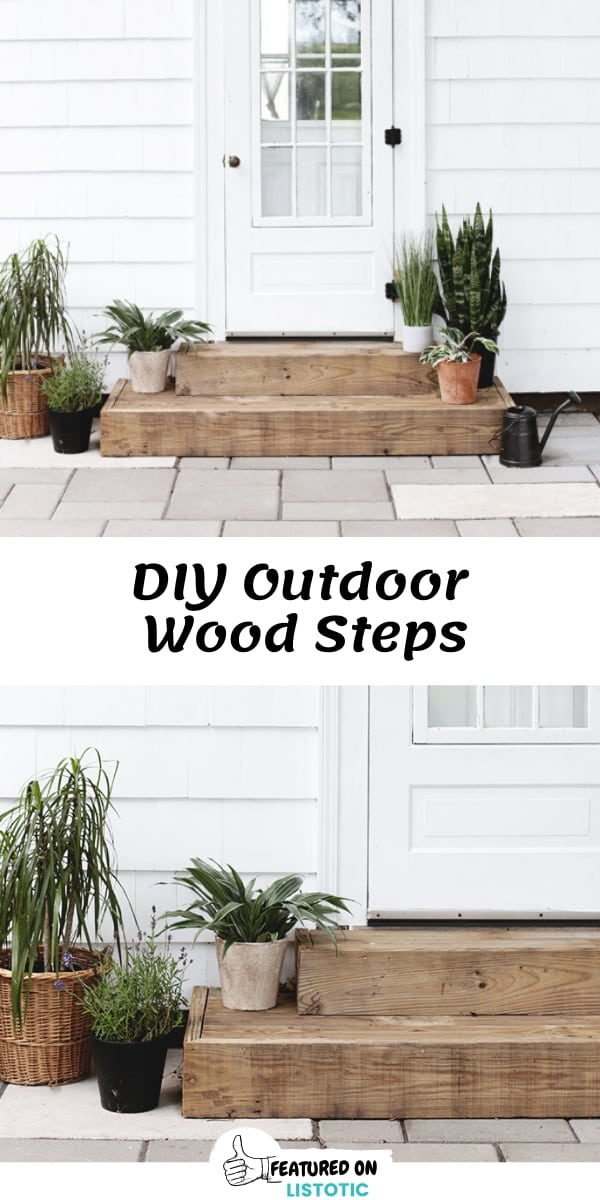 DIY Outdoor wooden steps