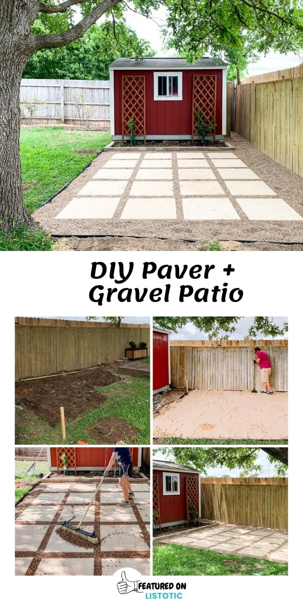 DIY Paver and Pea Gravel Patio