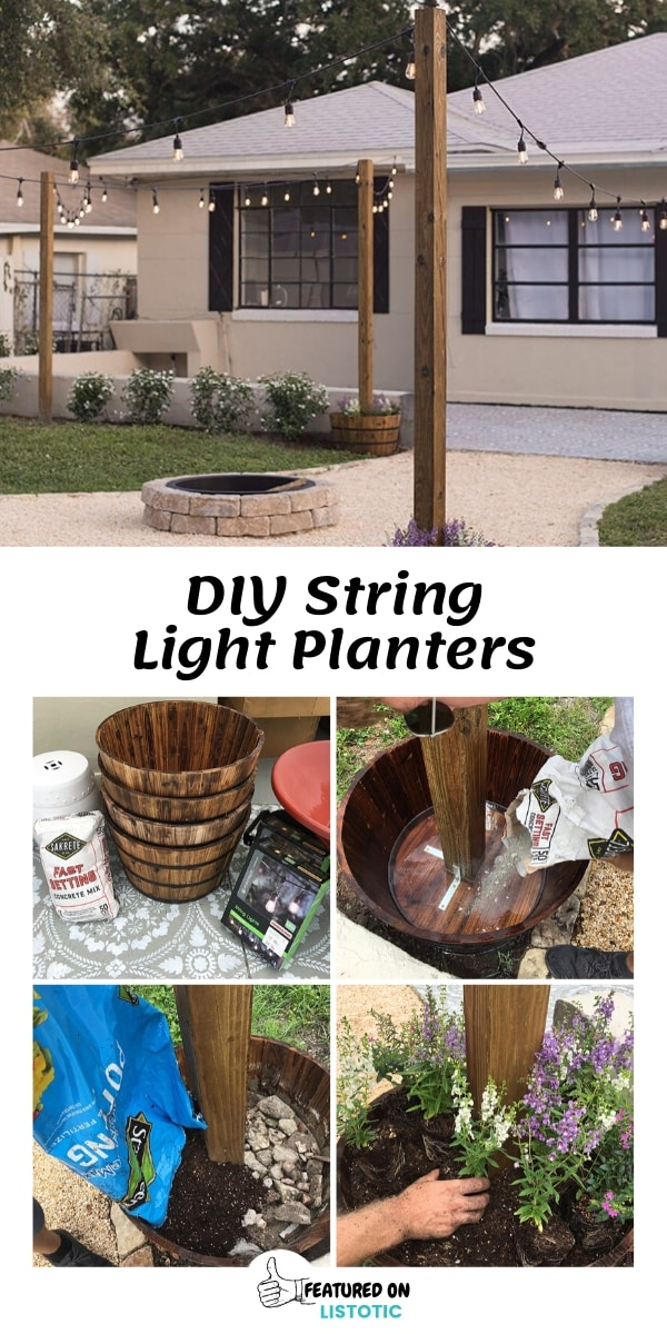 Easy DIY String Light Planters