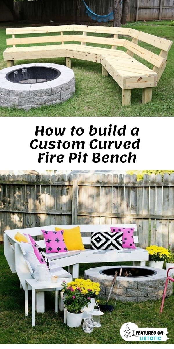 How to build a custom curved fire pit bench