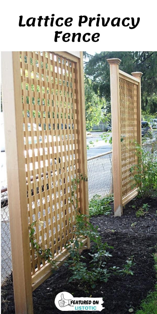 Outdoor Wood Lattice Privacy Fence