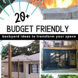 20 Budget Friendly backyard ideas to transform any outdoor area.