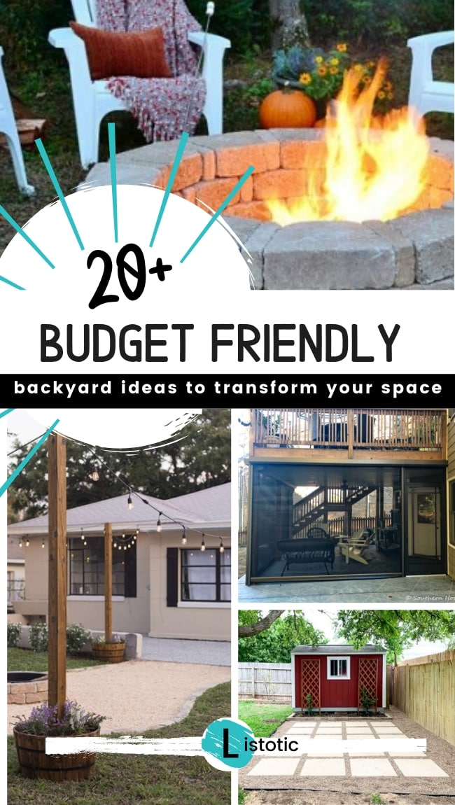 20 Budget Friendly backyard ideas to transform any outdoor area.