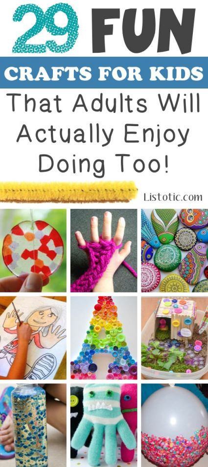 Fun craft ideas for adults and kids to do at home