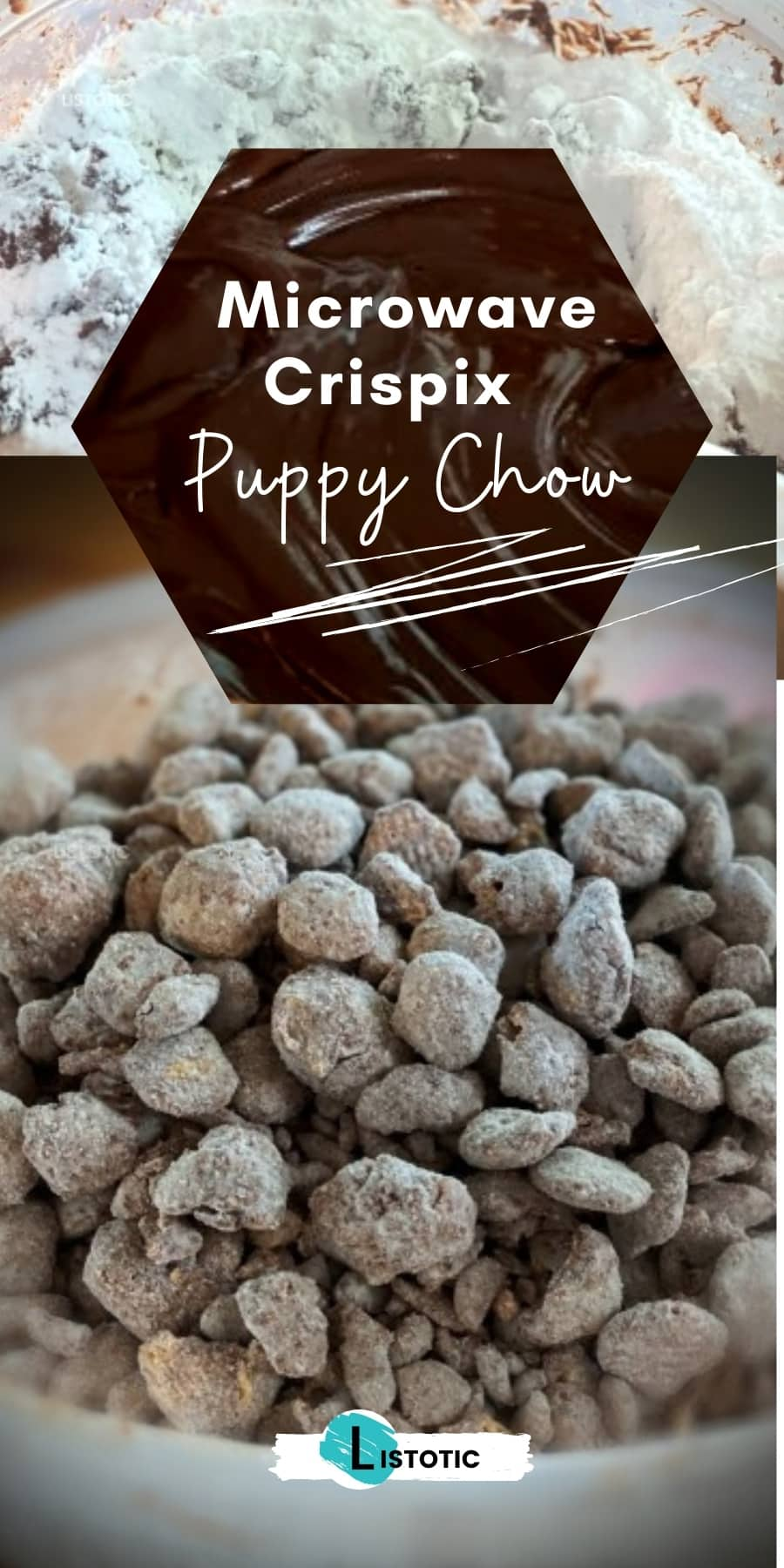Crispix Puppy Chow Treat in a bowl