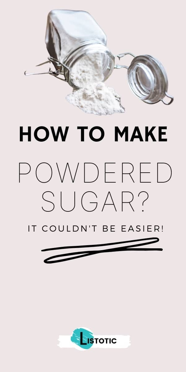 How to make powdered sugar pin on Pinterest