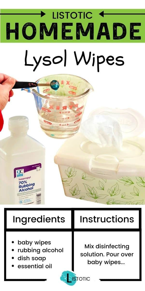 Homemade Lysol Cleaning wipes recipe