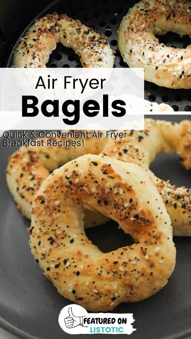 Three ingredient air fryer bagels.