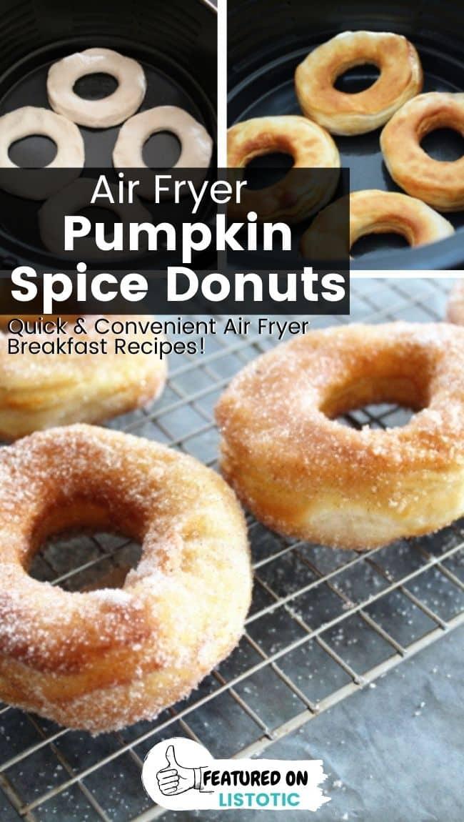 Pumpkin spice donuts.