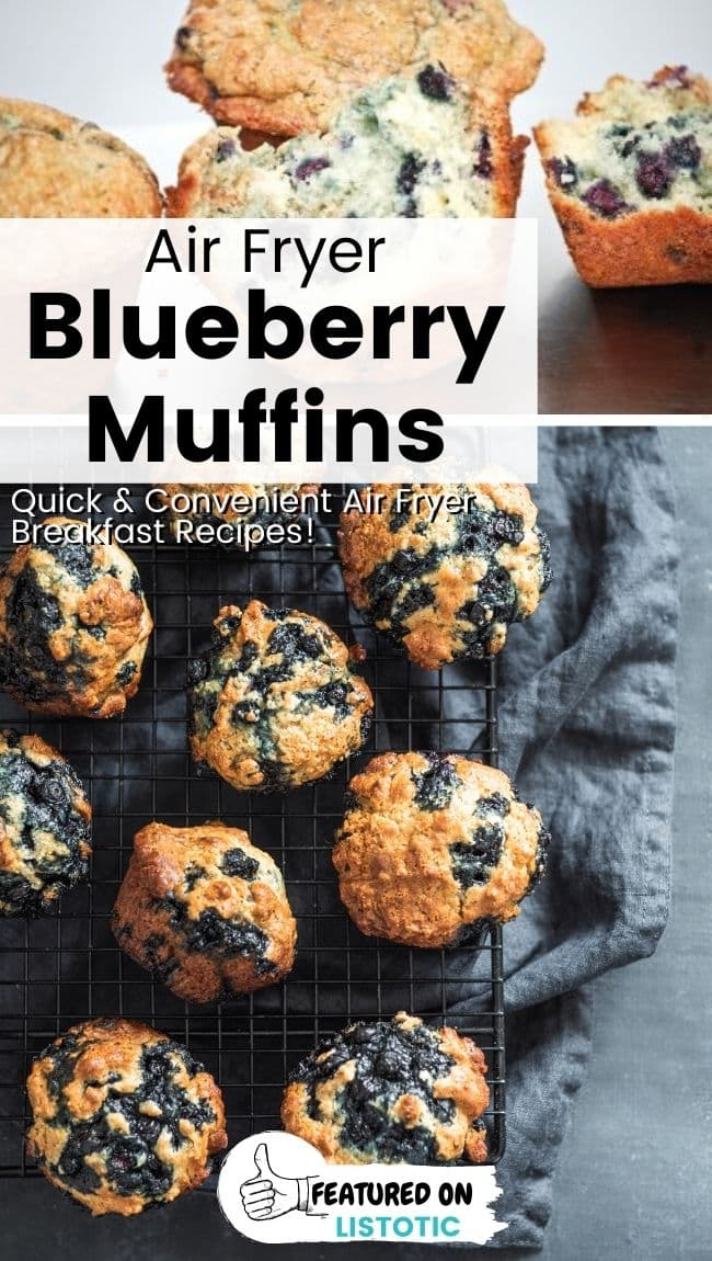 Blueberry muffins made with fresh blueberries.