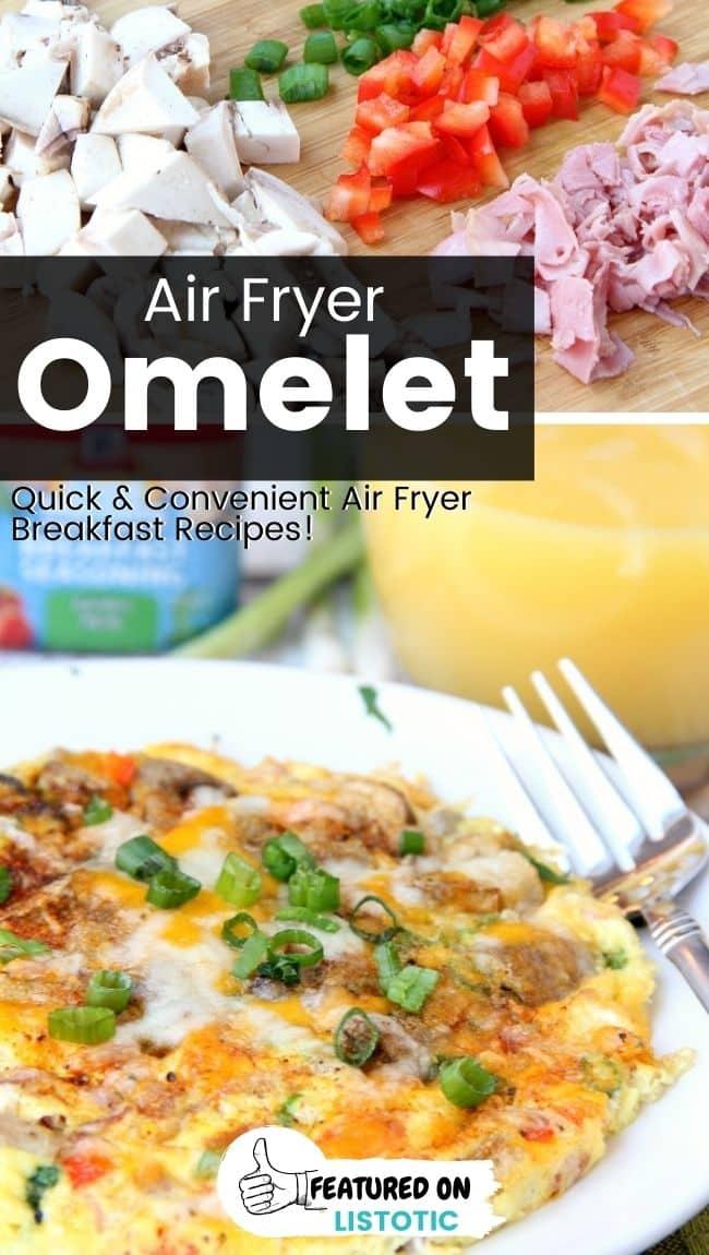 Easiest ever air fryer omelet.