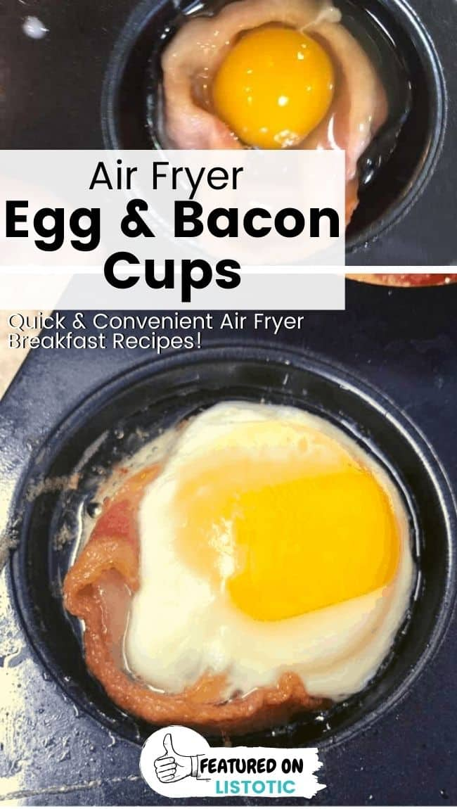 Bacon wrapped egg cups.