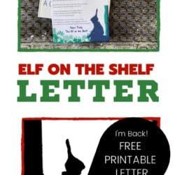 elf on the shelf arrival letter pinterest pin image