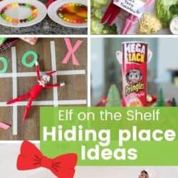 Elf on the Shelf hiding place ideas.