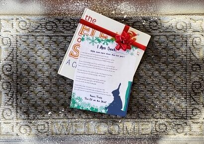 Santa's helper left a special printable note arrival letter on the front door mat