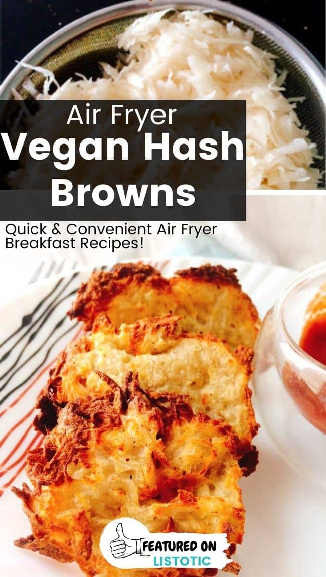 Vegan friendly hash browns in the air fryer.