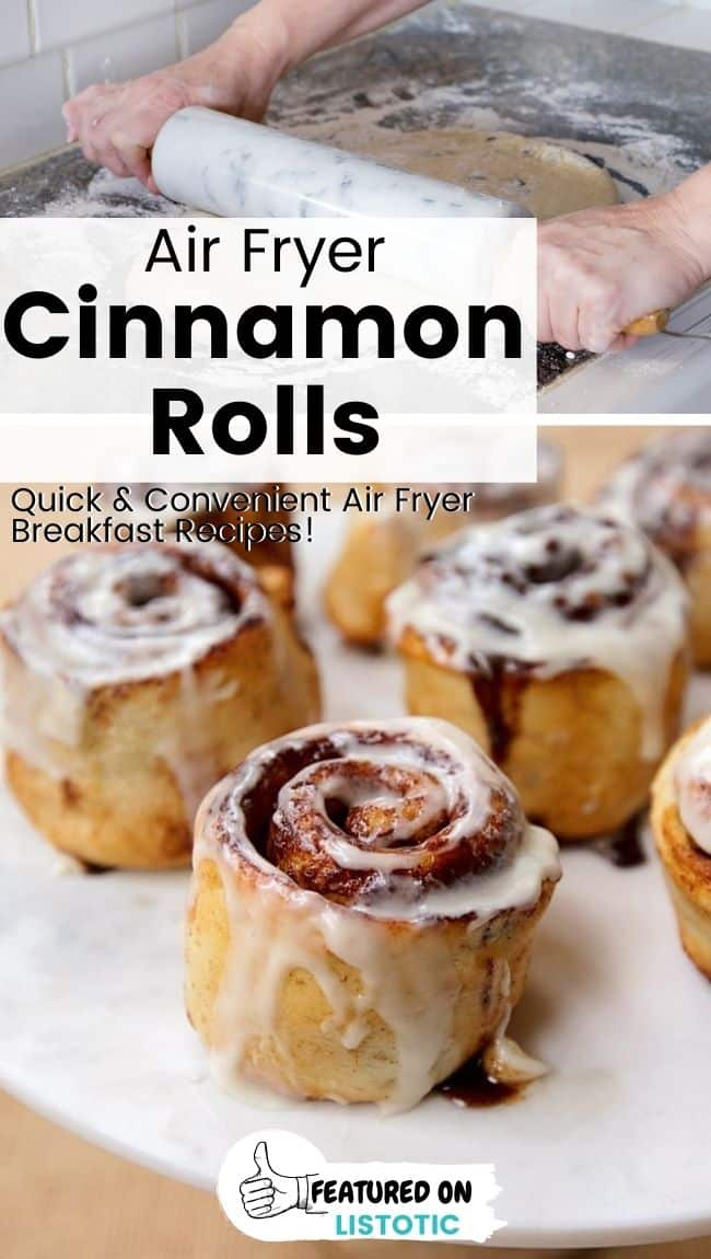 Air fryer breakfast recipes cinnamon rolls.