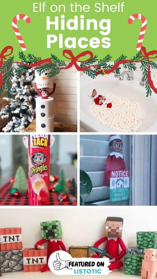 Last minute Elf on the Shelf hiding places.