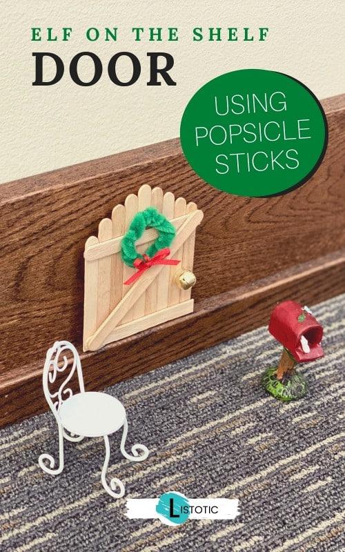 just needs elf foot prints next to this magical Christmas elf door