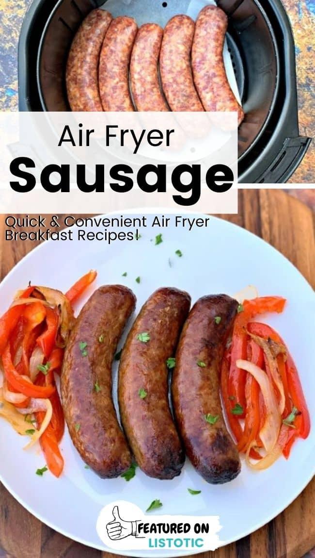 Most convenient air fryer sausage recipe