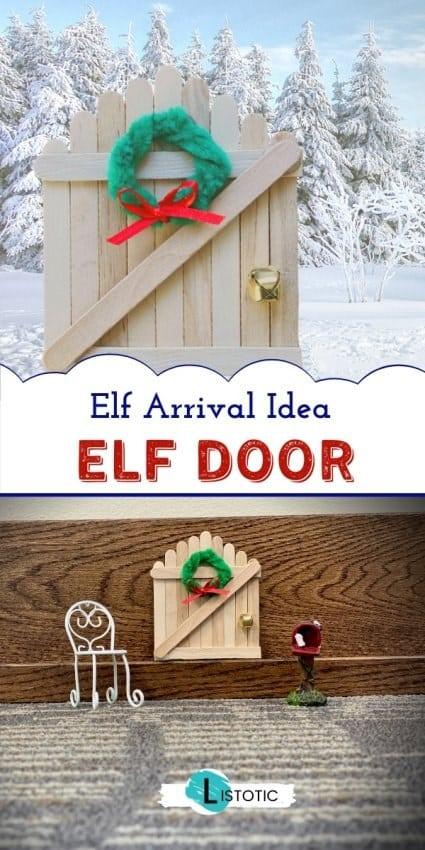 Popsicle stick door made for magical secret entrance