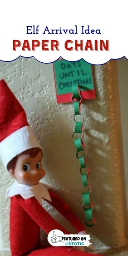 A Christmas Elf with a paper chain