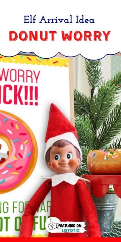elf with donuts