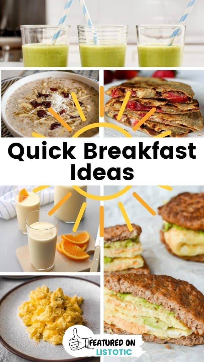Grab and go low carb breakfasts.