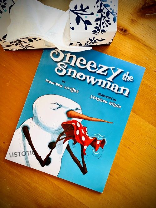 Sneezy the Snowman book for Christmas stories read aloud