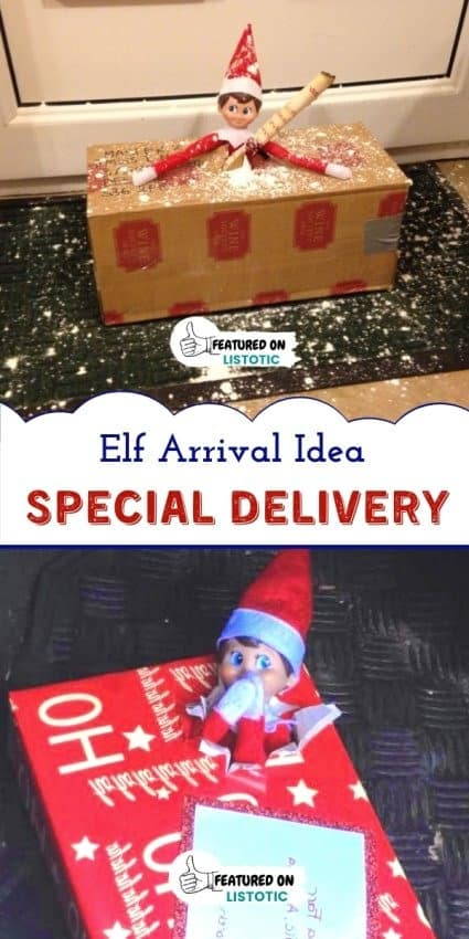 Special delivery boxes on the door step when the Elf returns!