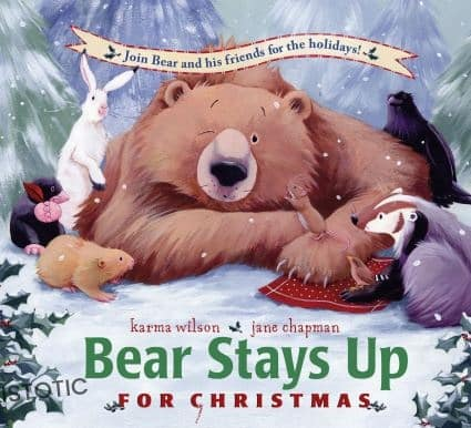 New Christmas books for kids Bear stays up Christmas stories read aloud