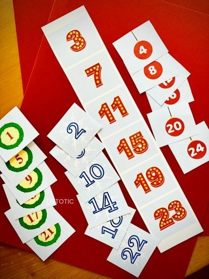 Free printable numbers made for Countdown to Christmas for Kids