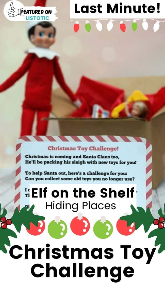 Elf on the Shelf Christmas toy challenge.