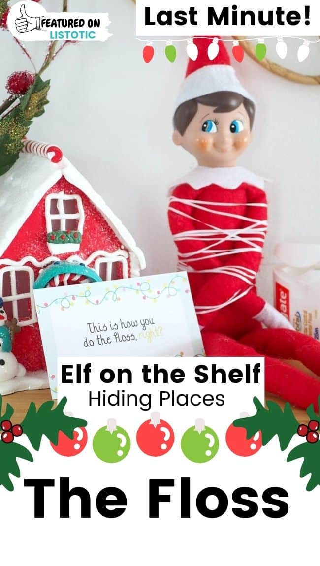 Elf on the Shelf the floss.