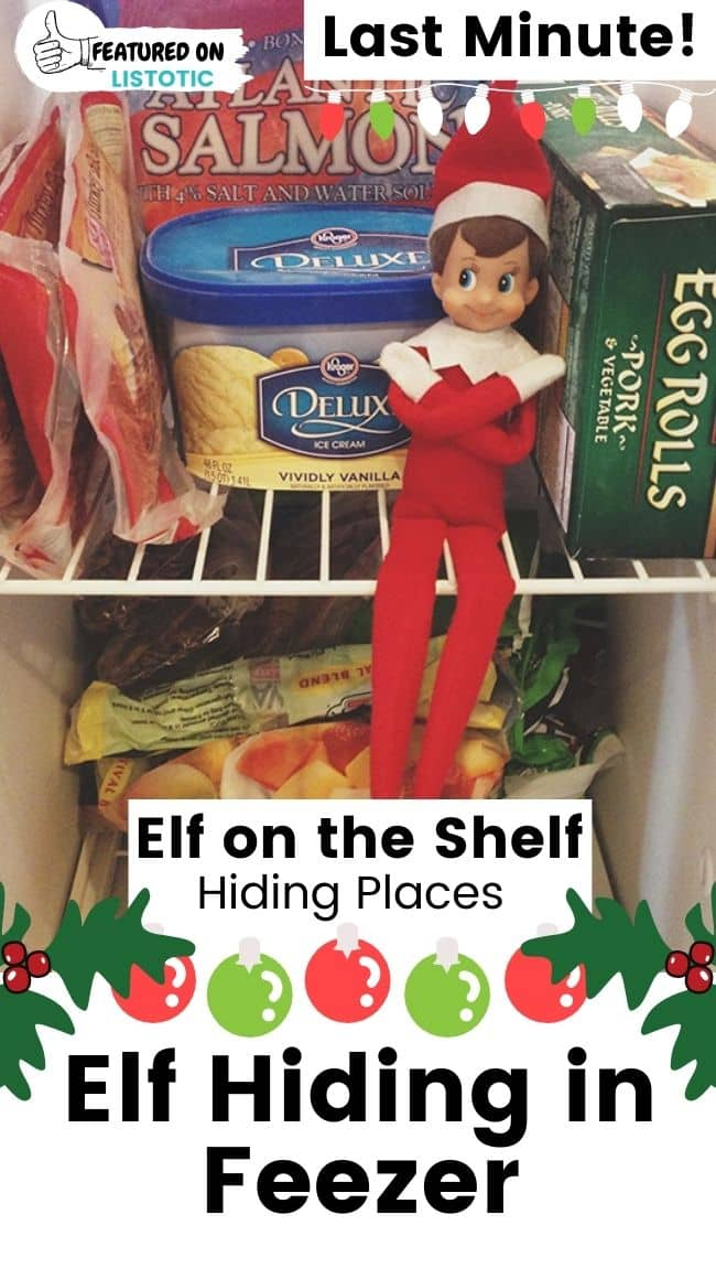 Elf on the Shelf in the freezer.