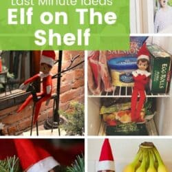 Last minute Elf on the Shelf ideas.