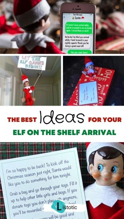 Elf on the shelf return ideas for the home images showing the elf on the shelf arrival ideas