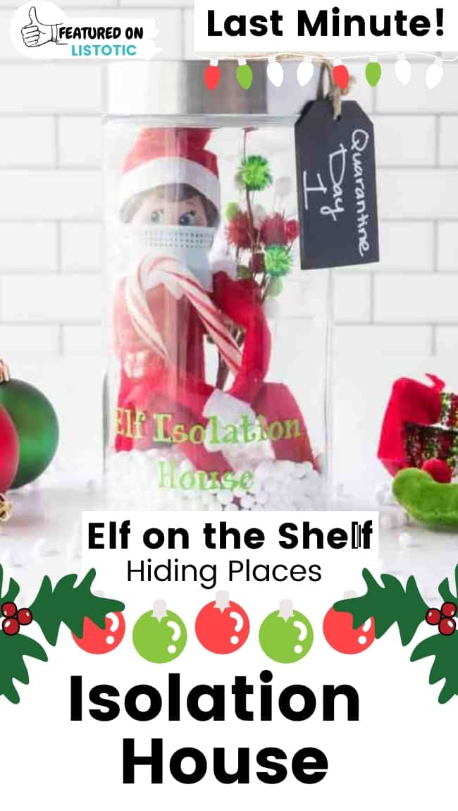 quarantine elf on the shelf isolation house DIY