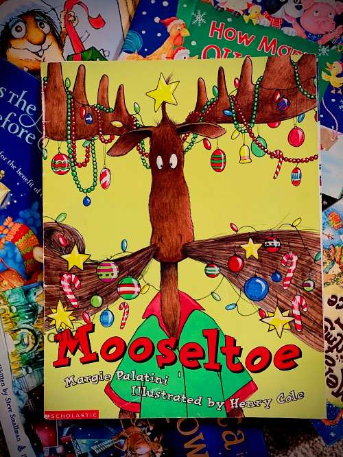 Funny Christmas bedtime stories about a moose getting ready for the holidays