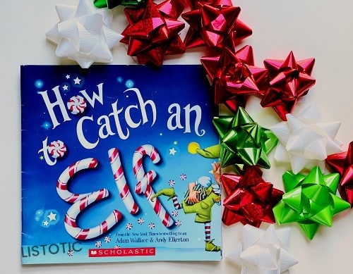 How to catch an elf book with some holiday ribbons